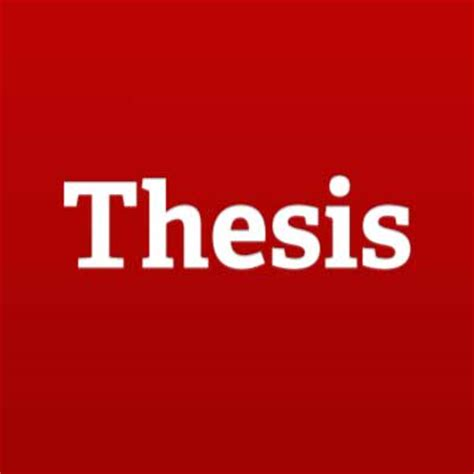 Who to write a thesis